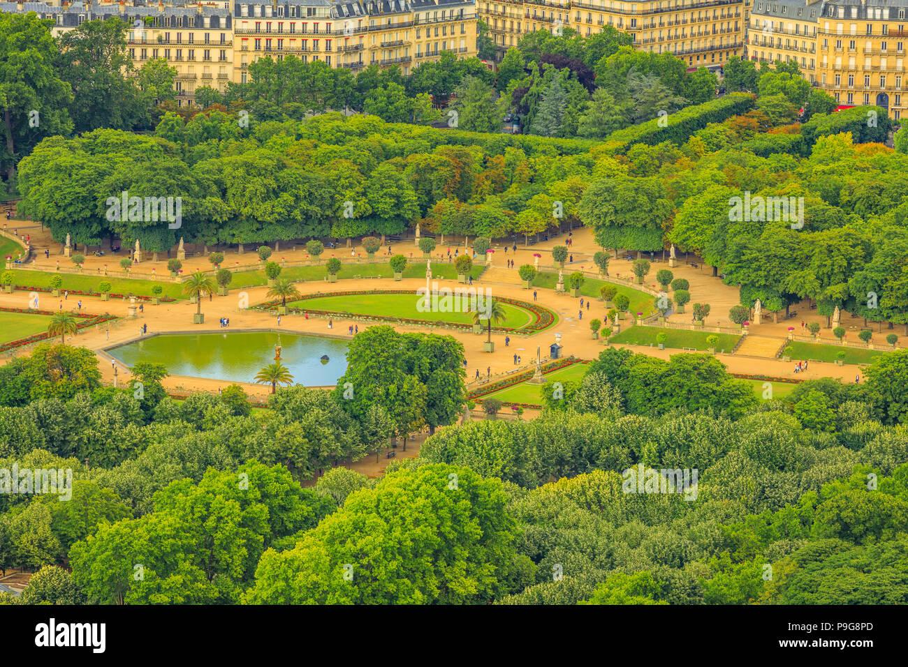 Gros Plan Du Jardin Du Jardin Du Luxembourg A Partir De La Terrasse