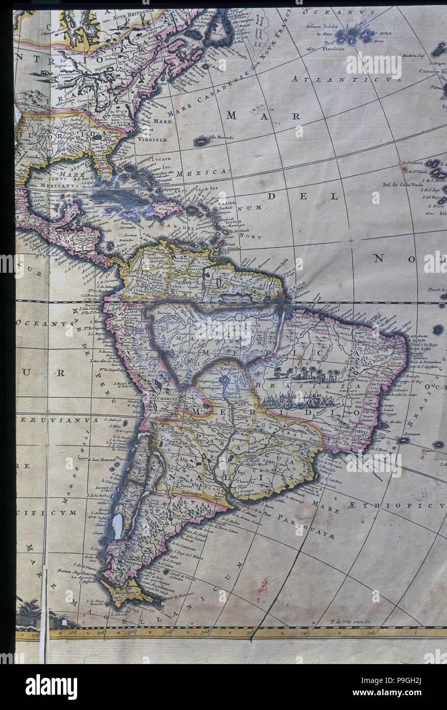 Carte Amerique Du Sud Et Amerique Centrale.La Carte De L Amerique Du Sud Caraibes Amerique Centrale Et La