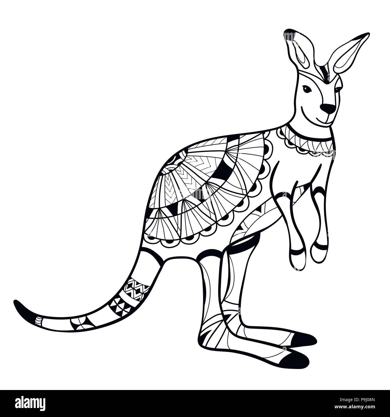 Coloriage Mandala Kangourou.Livre De Coloriage Coloriage Animal Le Kangourou Le Motif