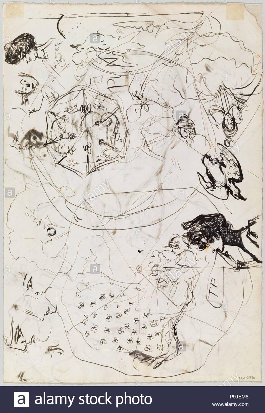 Pablo picasso sketch de un parapluie 1899 1900 dessin