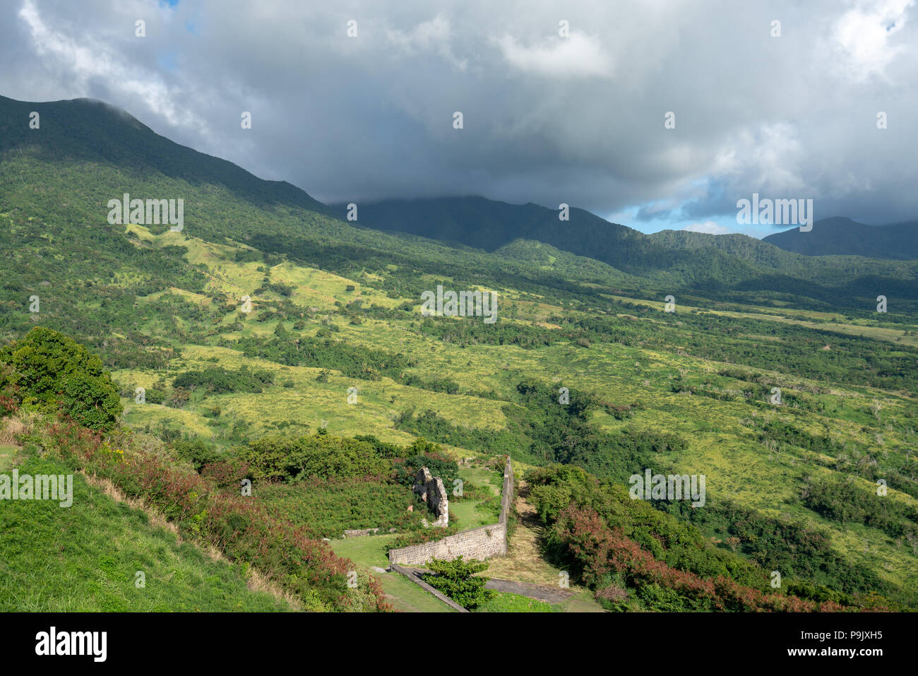 Parc National de la forteresse de Brimstone Hill. Banque D'Images