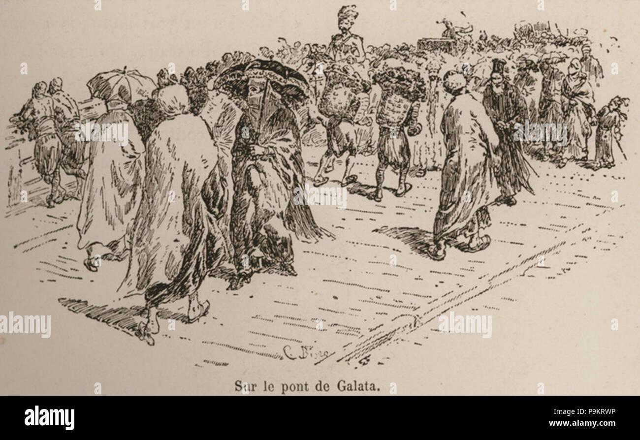 305 Sur le pont de Galata - De Amicis Edmondo - 1883 Banque D'Images