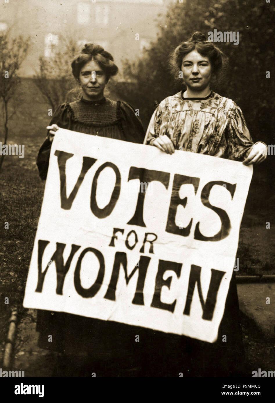 133 Annie Kenney et Sylvain Pankhurst (rognée) Banque D'Images