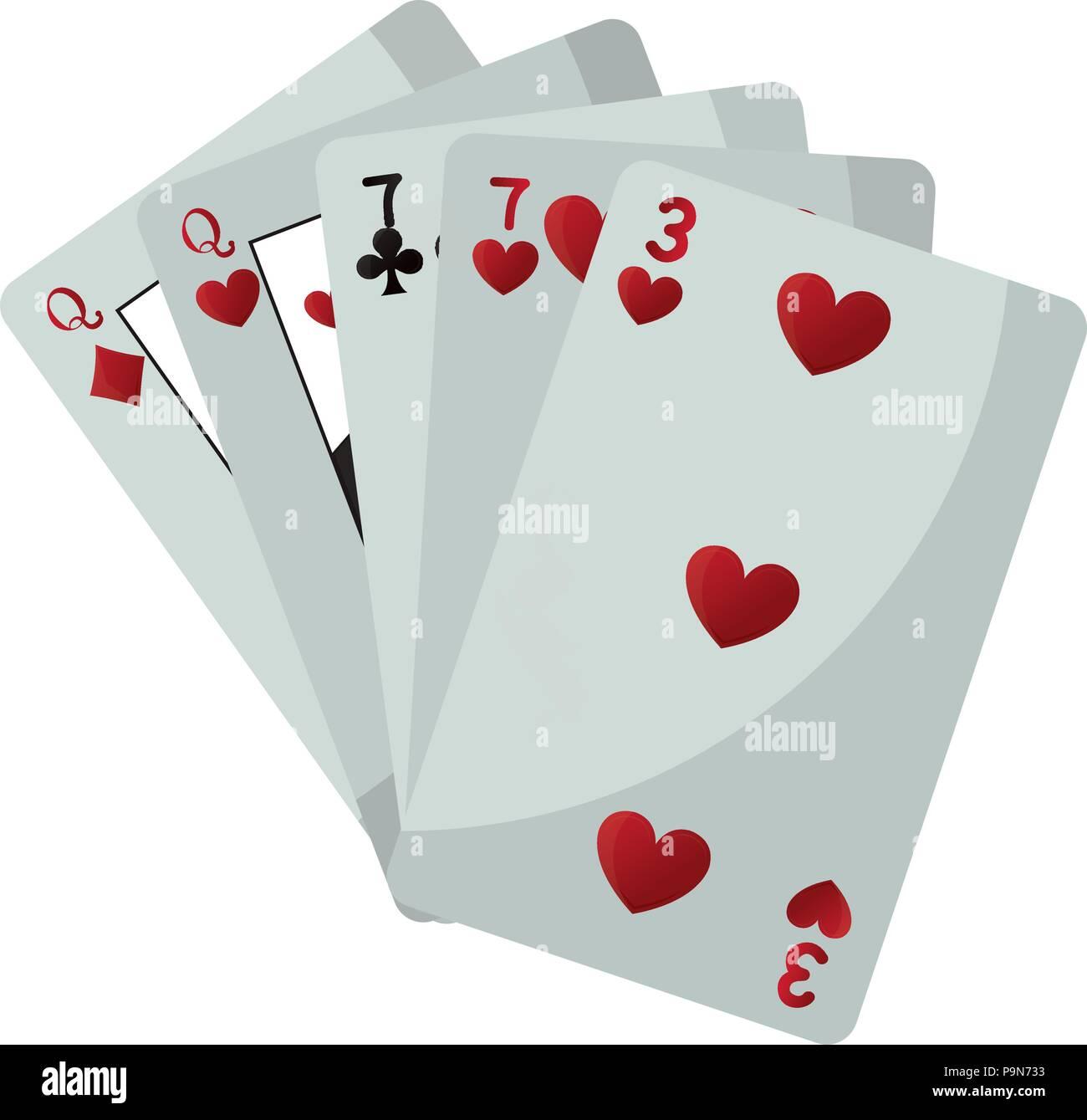Deux paires jeu de casino carte Photo Stock