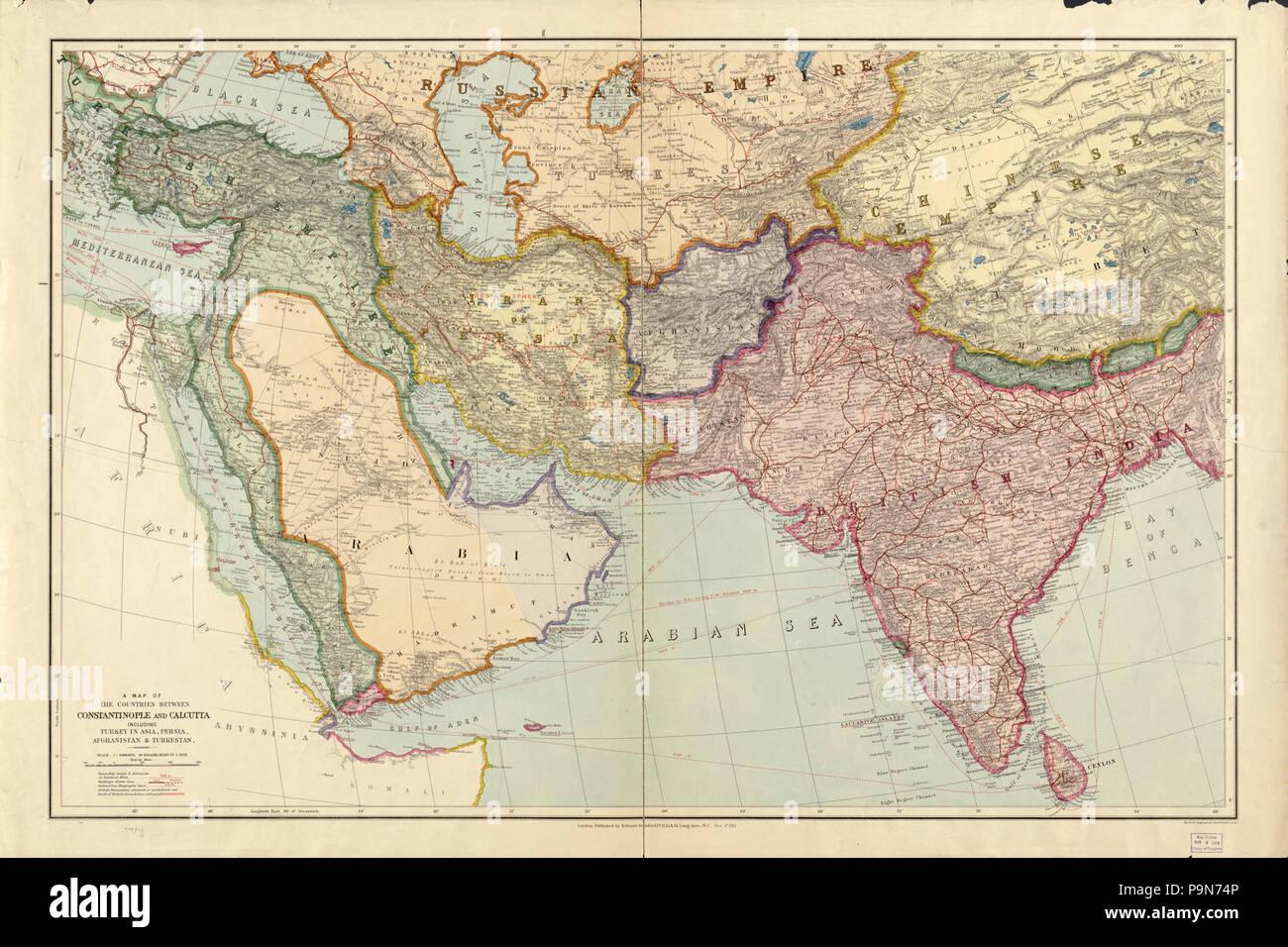 carte du turkestan