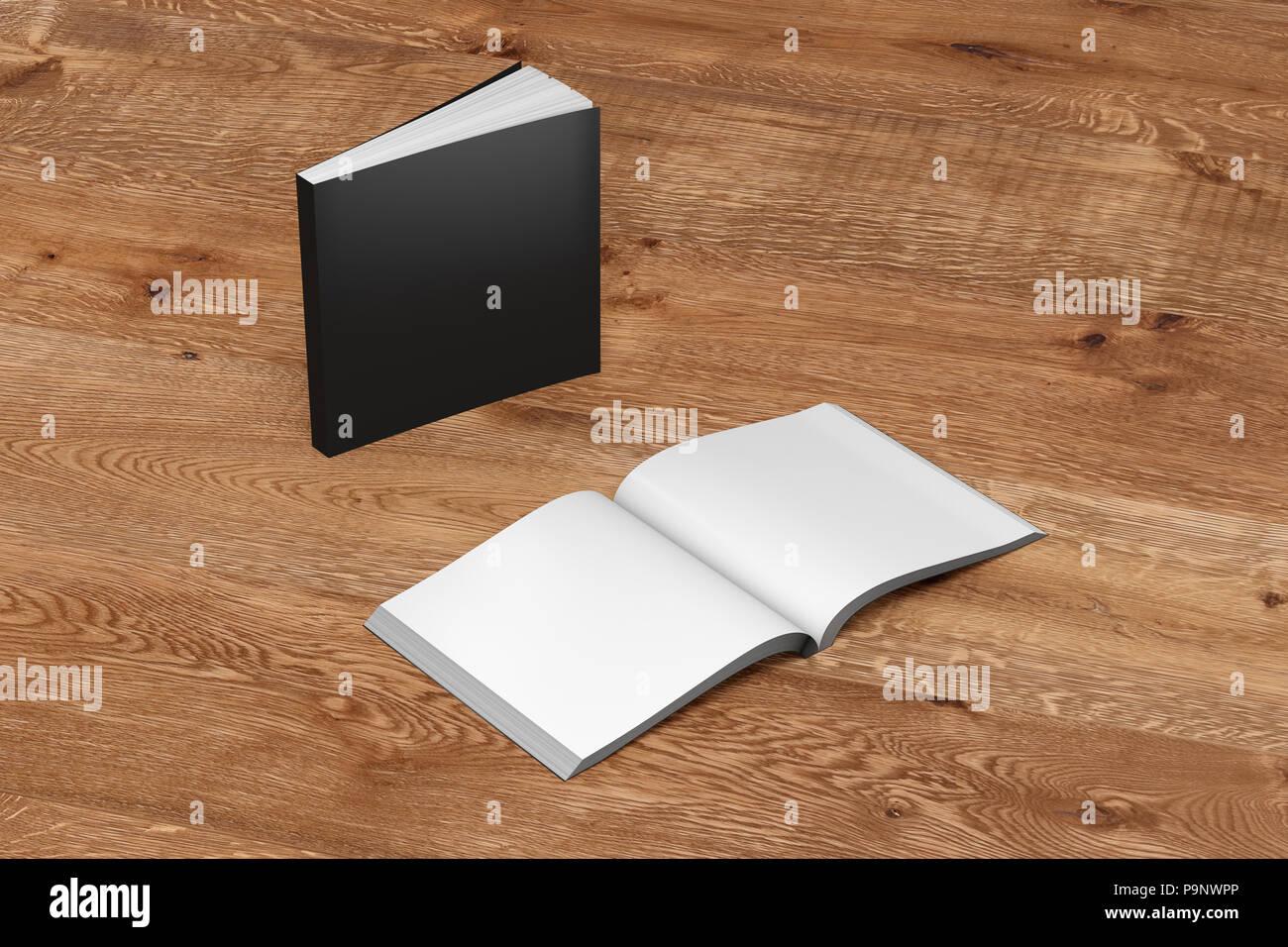 Carre Noir En Blanc Livres A Couverture Souple Et Ouvert L