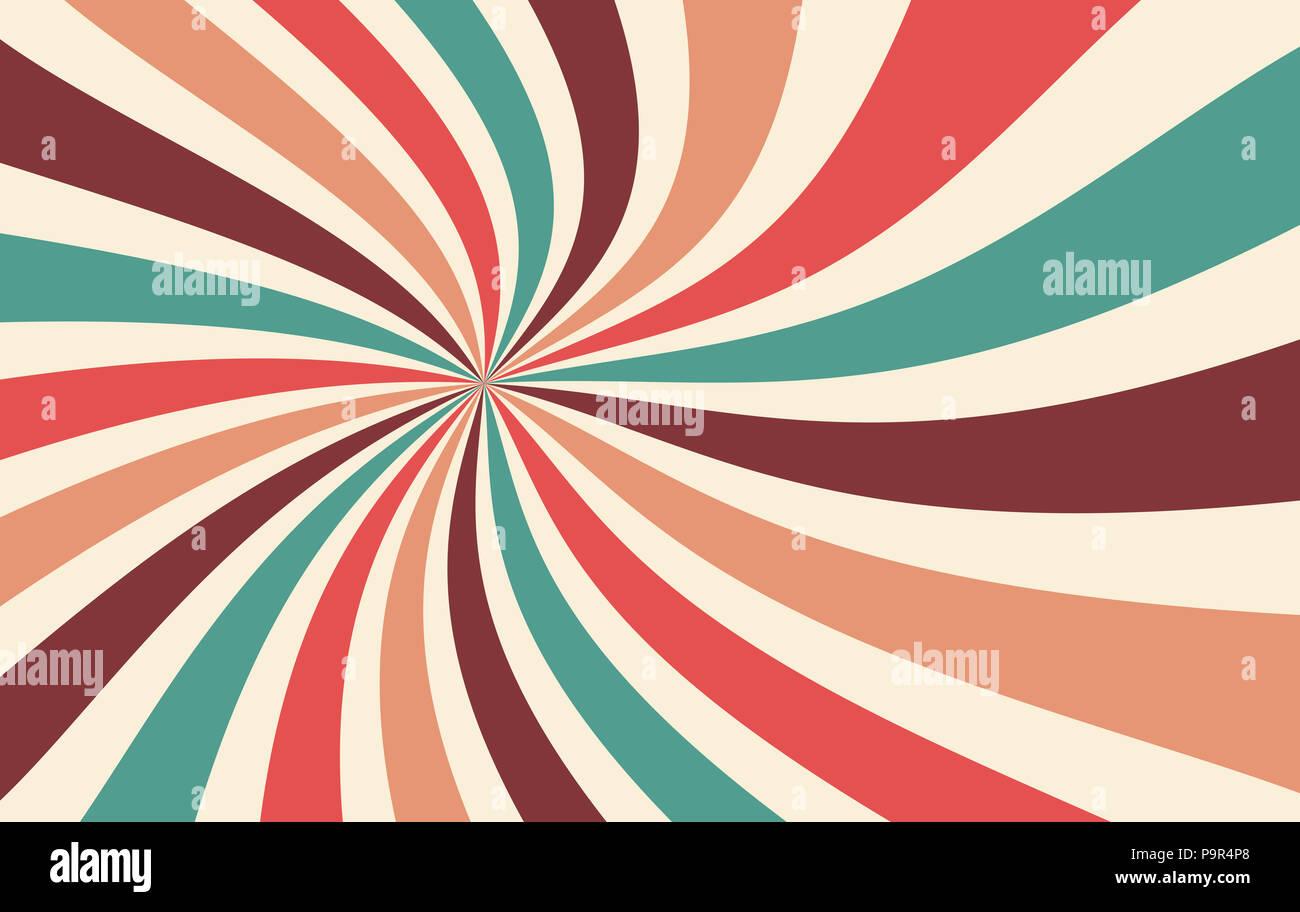 Starburst Rétro Ou Fond Sunburst Modèle Vectoriel Avec Une Palette