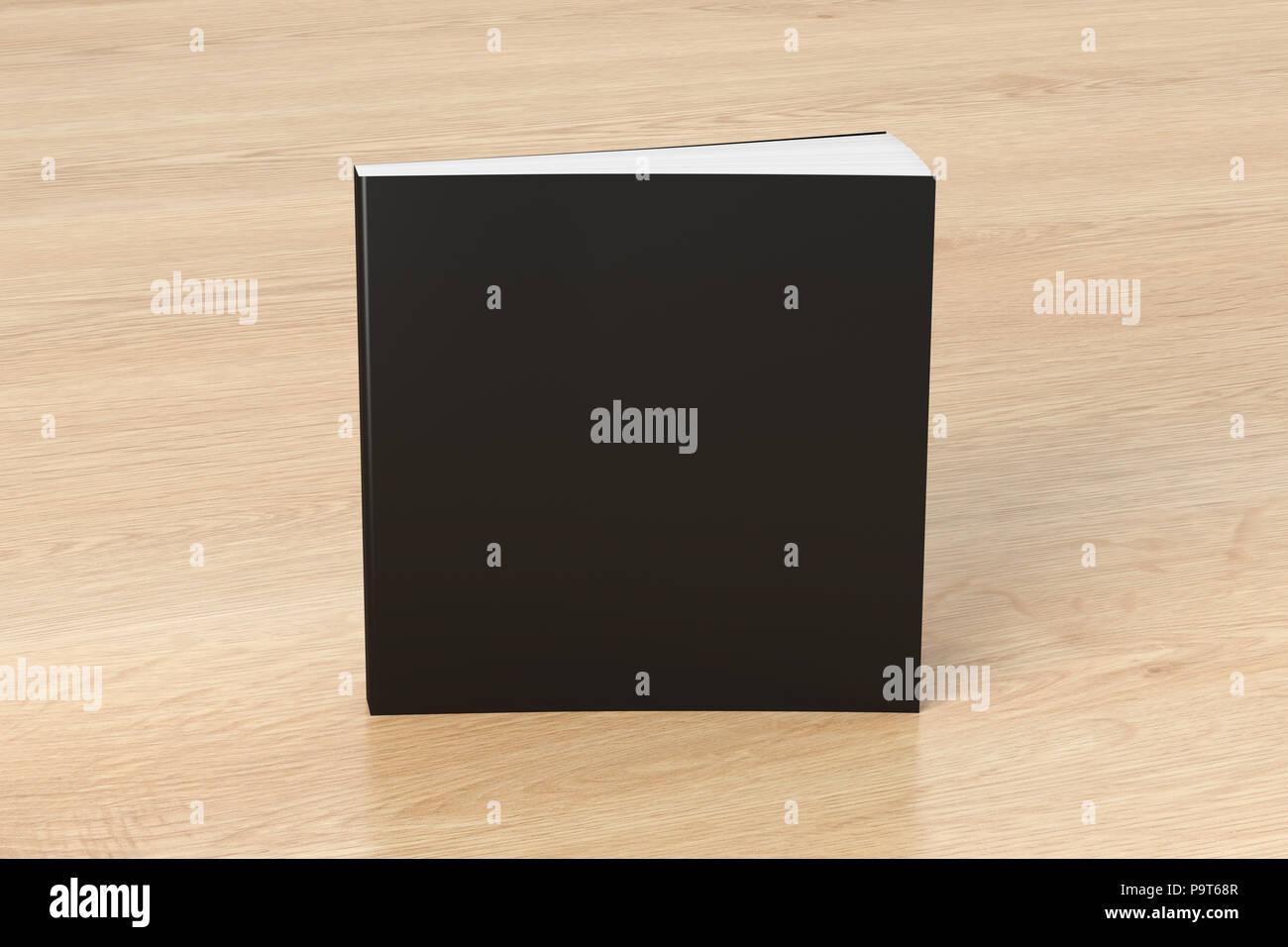 Carre Noir En Blanc Livre A Couverture Souple Debout Sur