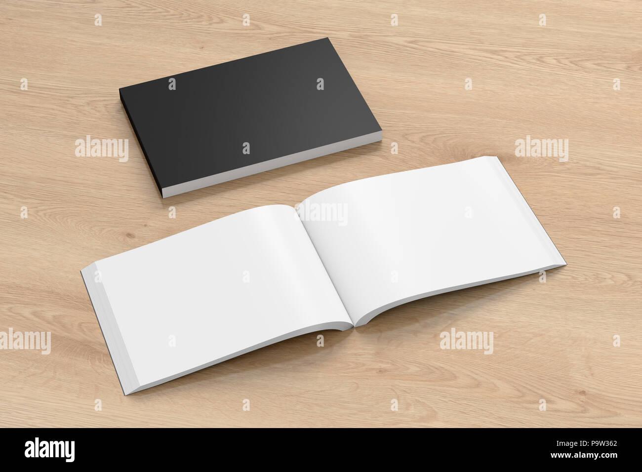 Paysage Vide Noir Livre Avec Couverture Souple Du Papier