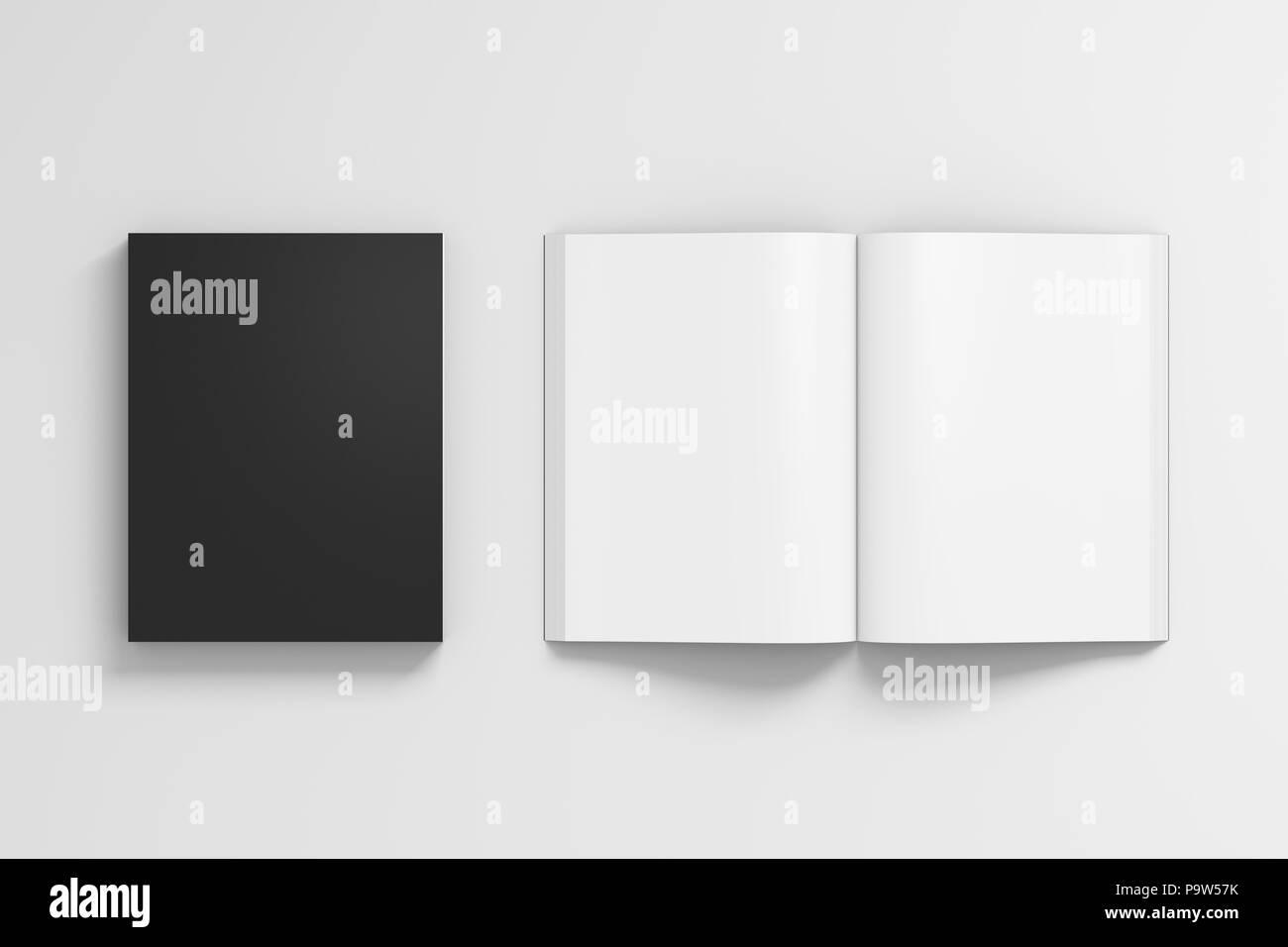 Portrait Noir Blanc Livre A Couverture Souple Avec Du Papier