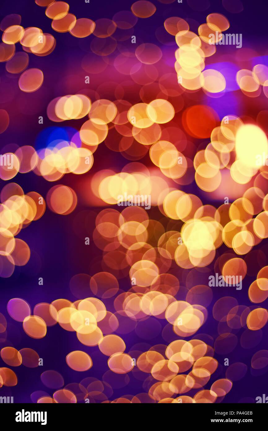 Abstract colorful bokeh arrière-plan flou, couleurs chaudes et ...