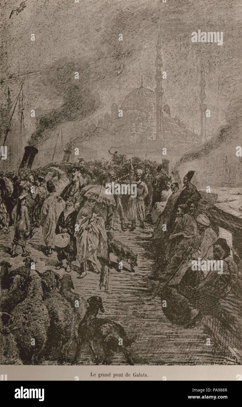 155 Le grand pont de Galata - De Amicis Edmondo - 1883 Banque D'Images
