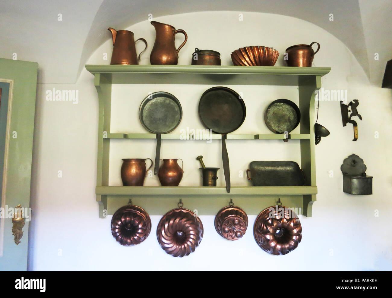 Outil de cuisine, Uphagen's House, musée, Długa, Gdańsk, occidentale, Pologne Banque D'Images