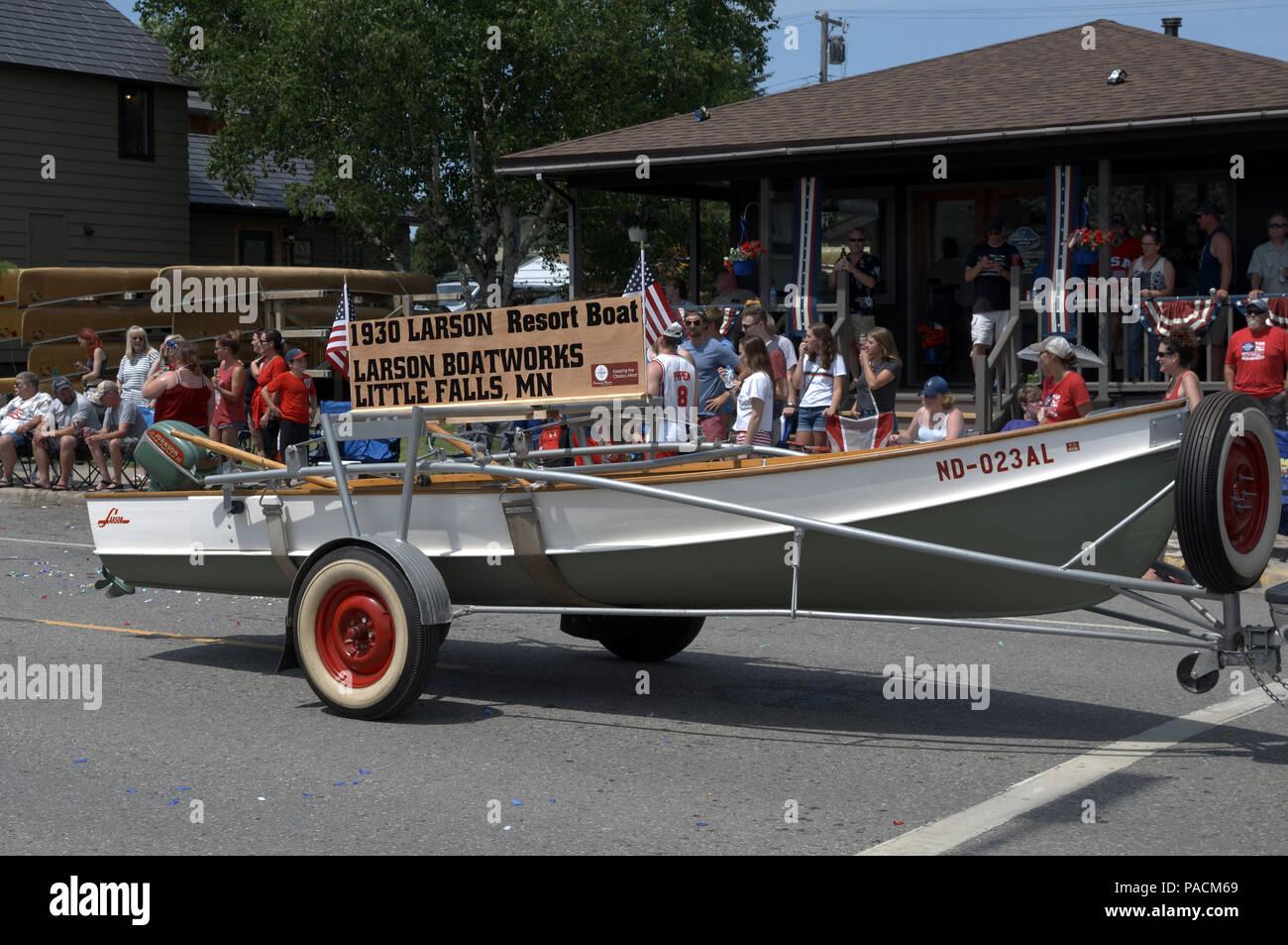 Défilé du 4 juillet à Ely dans le Minnesota Banque D'Images