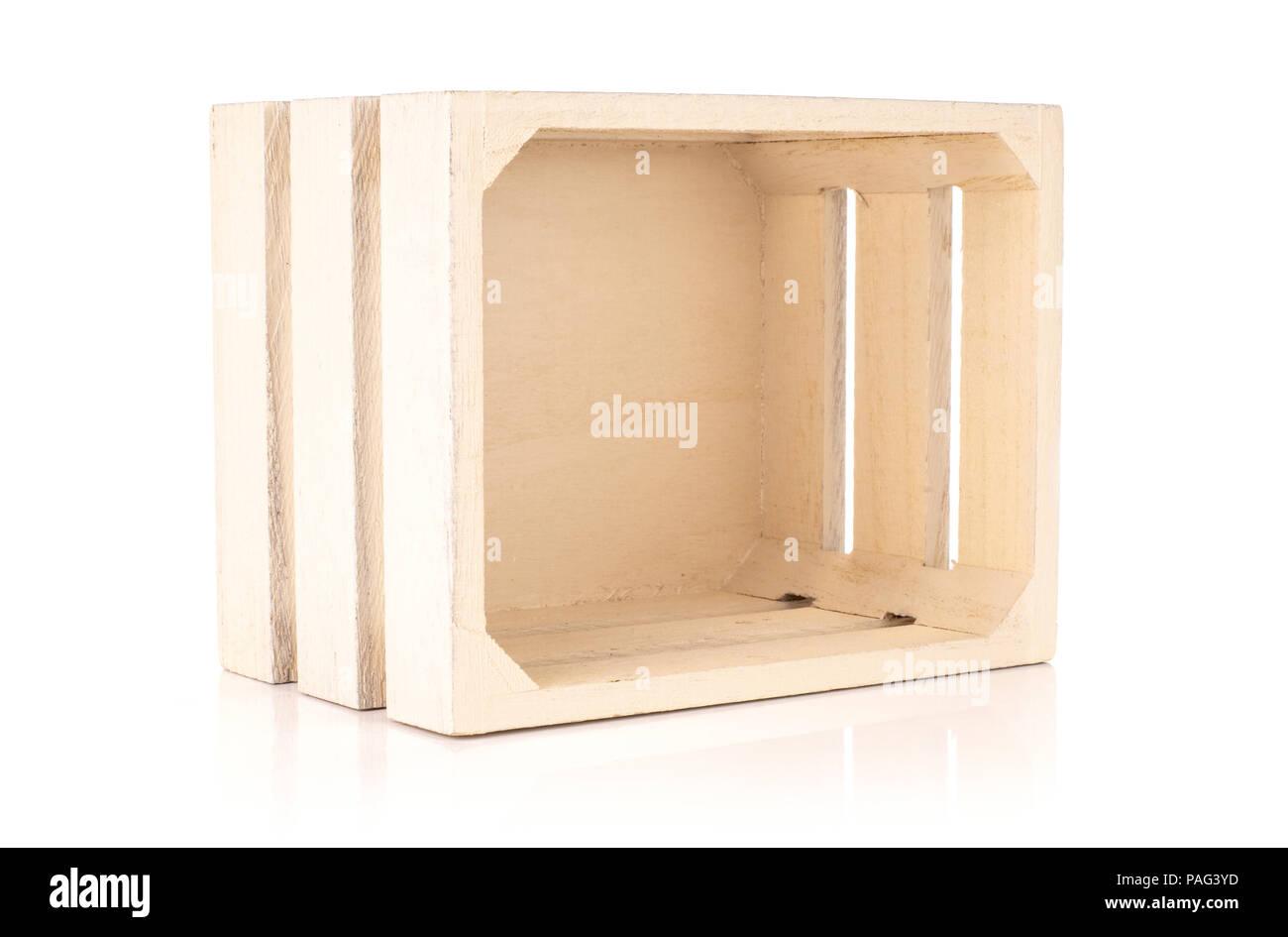 Un ensemble d'outils de cuisine caisse en bois léger isolated on white Photo Stock