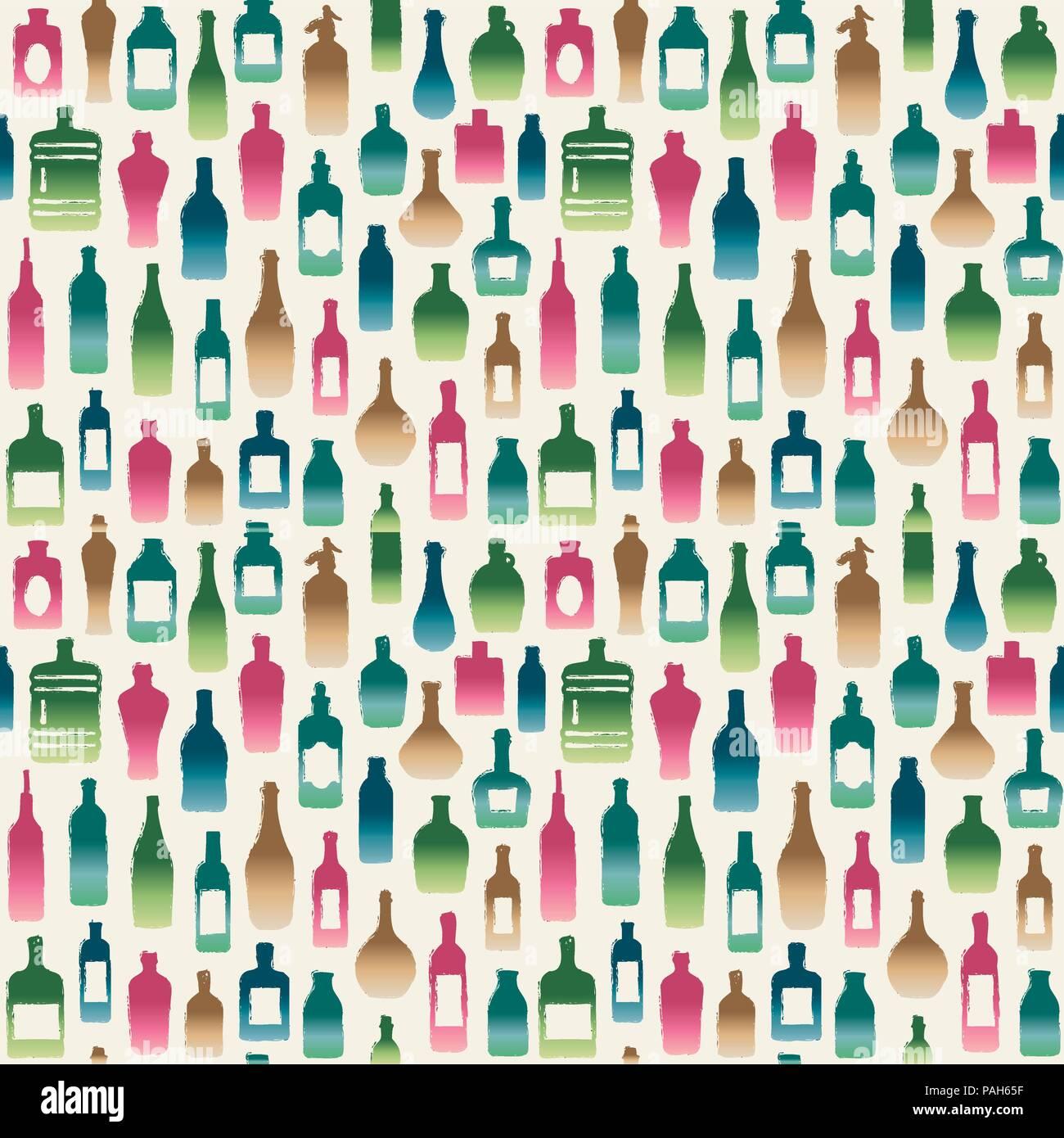 En forme de diverses bouteilles vecteur de fond transparent. Illustration de Vecteur