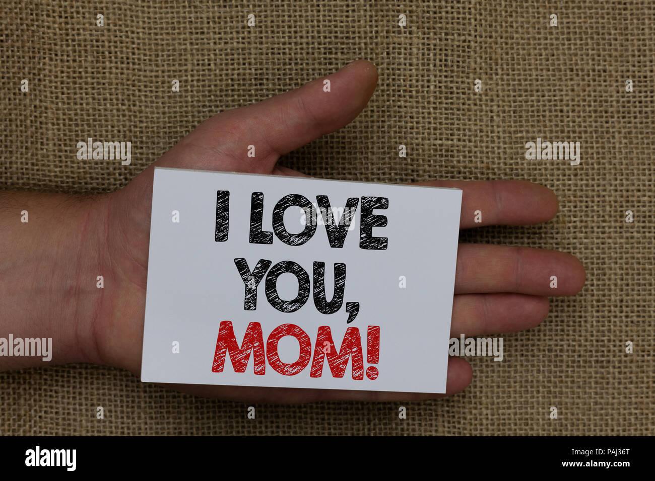 écrit Remarque Montrant Je Taime Maman Photo Daffaires
