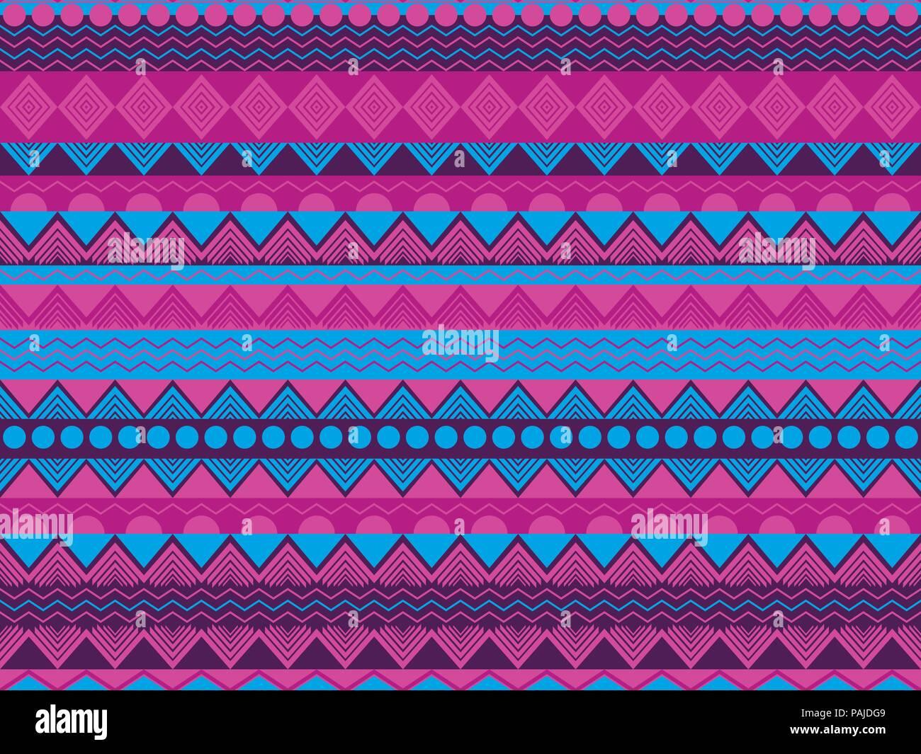 Modele Logique Ethnique Violet Et Bleu Textiles Tribal Style