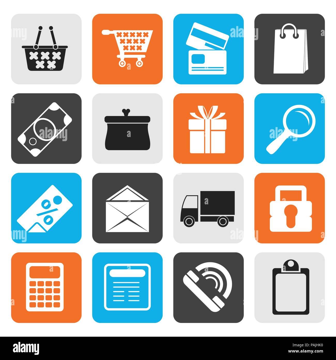Télévision Online shop icons - vector icon set Photo Stock