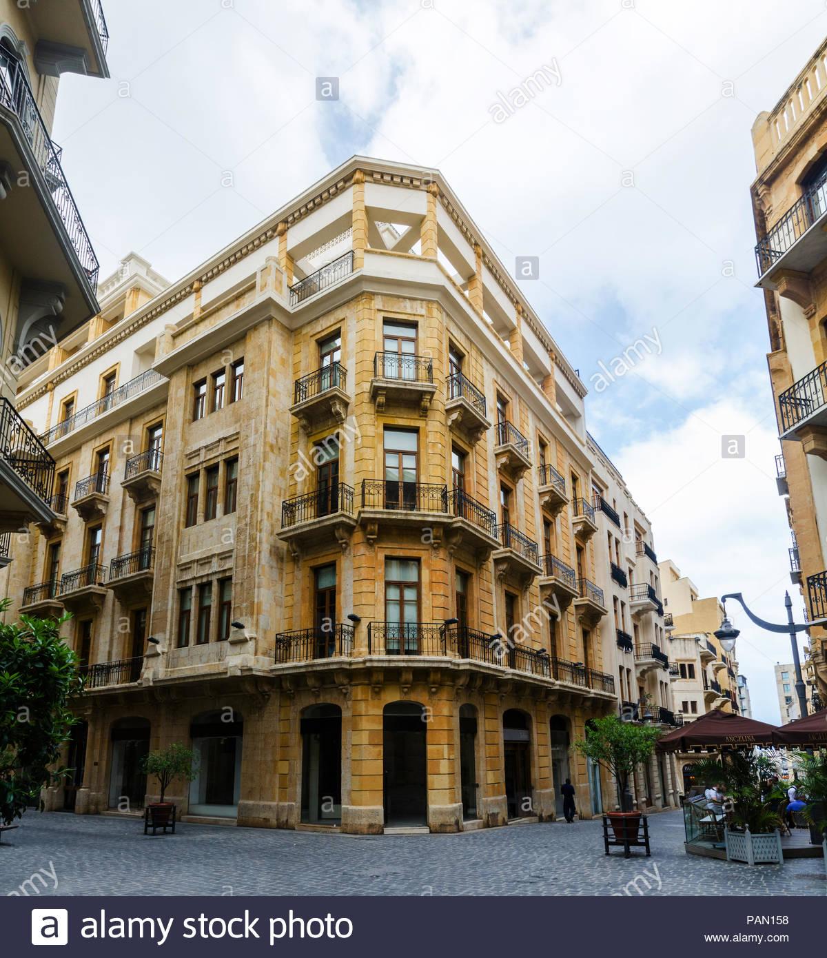 Rénové rues du centre-ville de Beyrouth, Liban Photo Stock