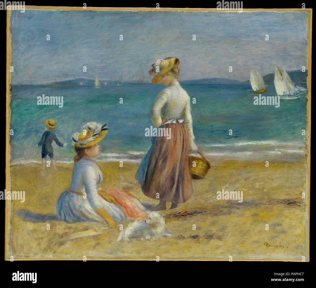 Cote Artiste Peintre Francais chiffres sur la plage. artiste : auguste renoir (français