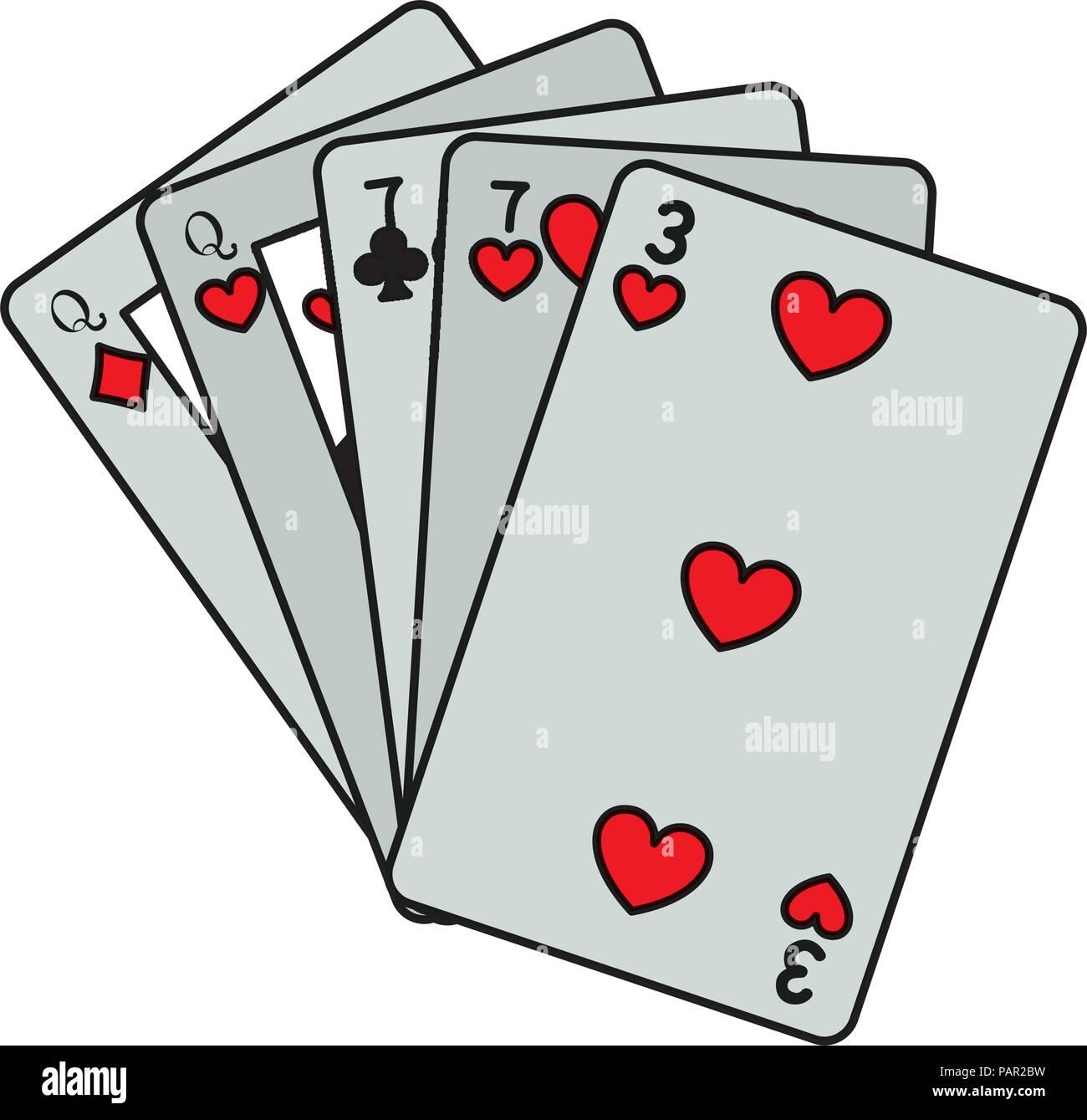 Deux paires de couleurs carte casino Jeu Photo Stock