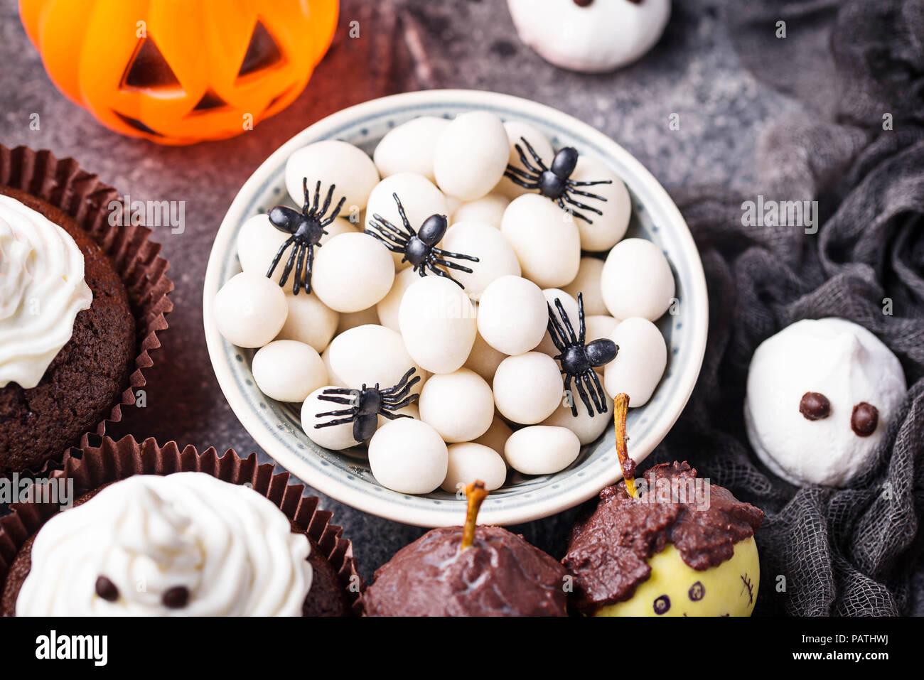 Les œufs Daraignée Halloween Créatif Banque Dimages Photo Stock