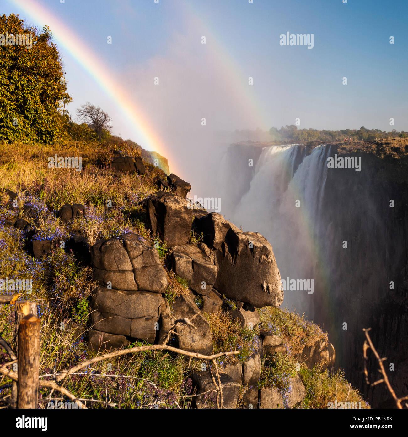 Les Chutes Victoria au Zimbabwe, l'Afrique Photo Stock