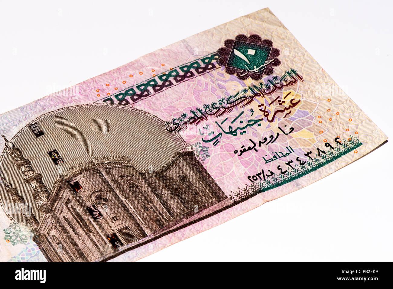 10 Livre Egyptienne Bank Note Livre Egyptienne Est La