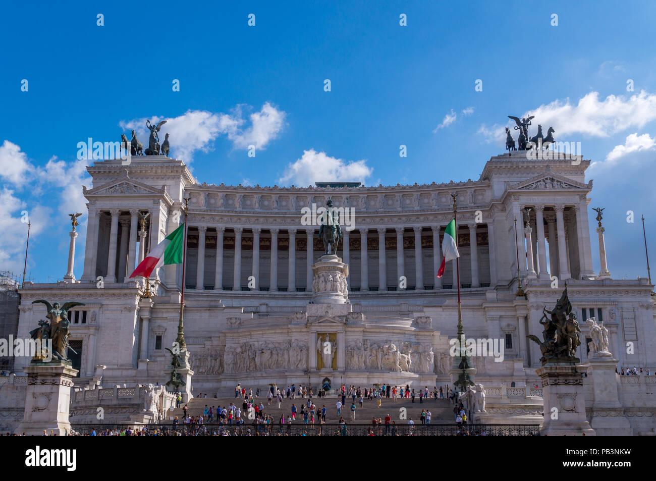 Vittoriano, Monumento Nazionale a Vittorio Emanuele II, l'autel de la patrie, Rome, Italie Photo Stock