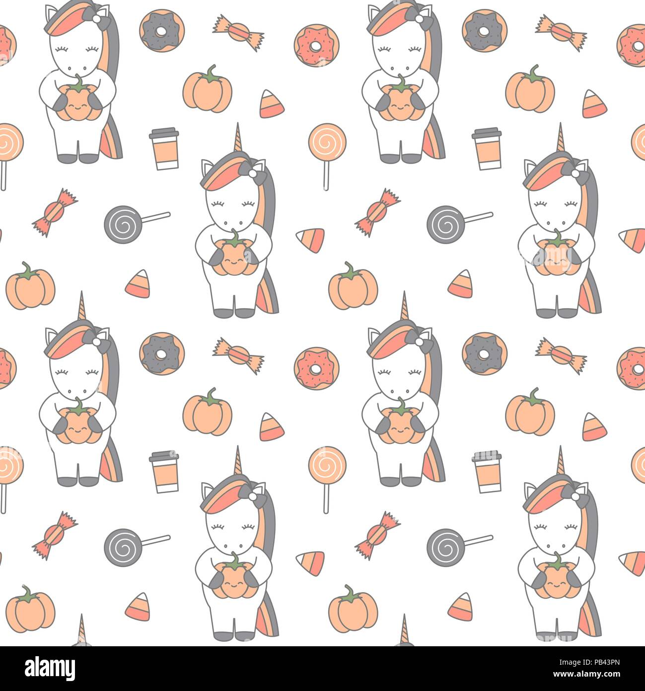 Cute Cartoon Halloween Background Illustration Modèle