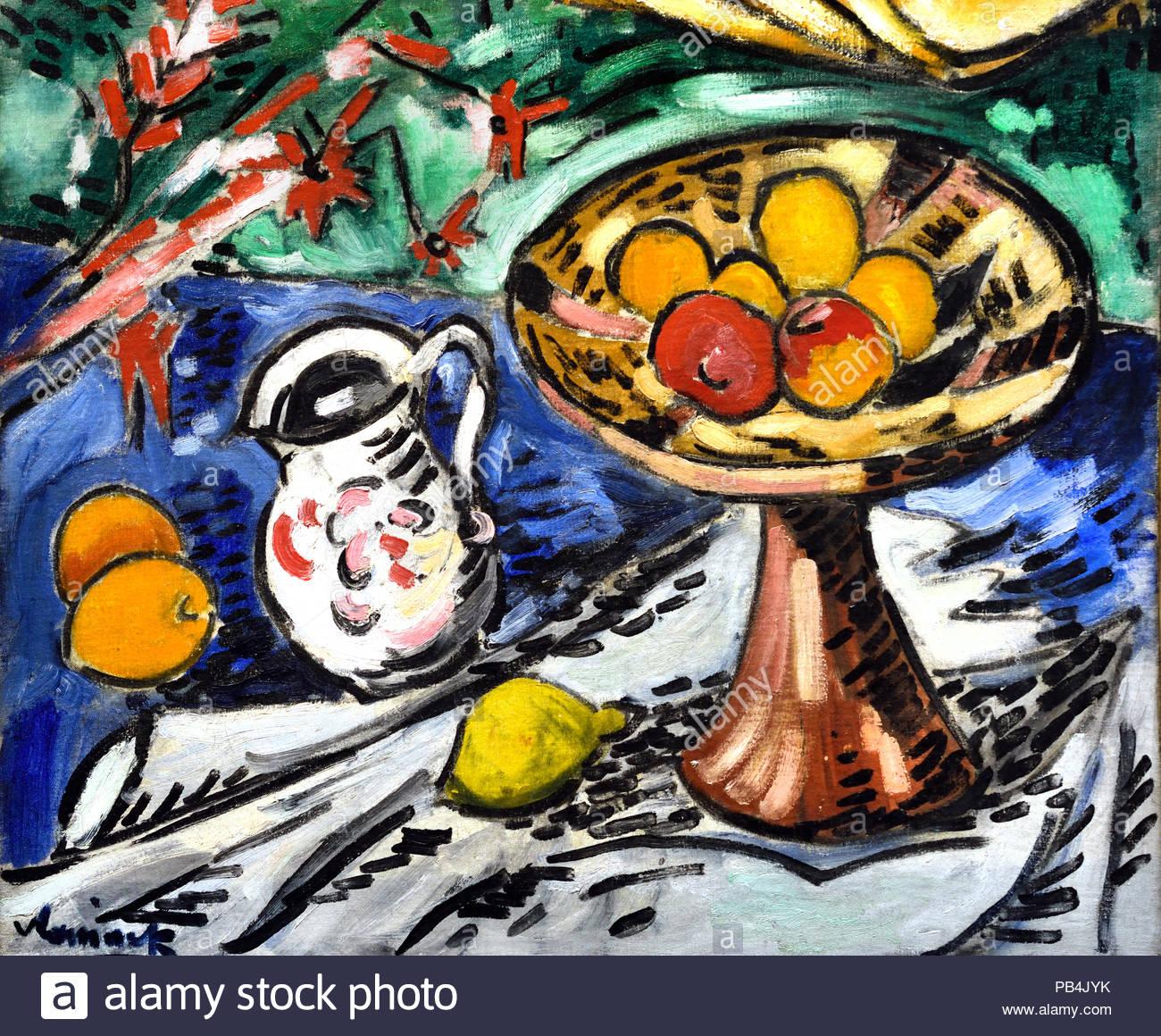 Still Life with Fruit Bowl 1905-1906 par Maurice de Vlaminck français La France Photo Stock