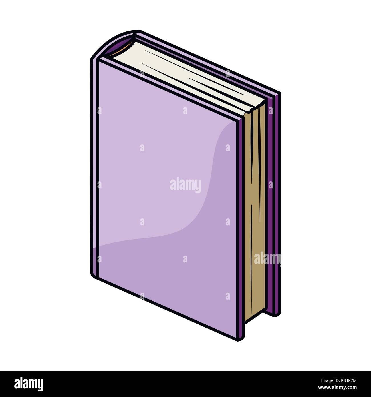 Dans L Icone Livre Permanent Violet Design Dessin Anime