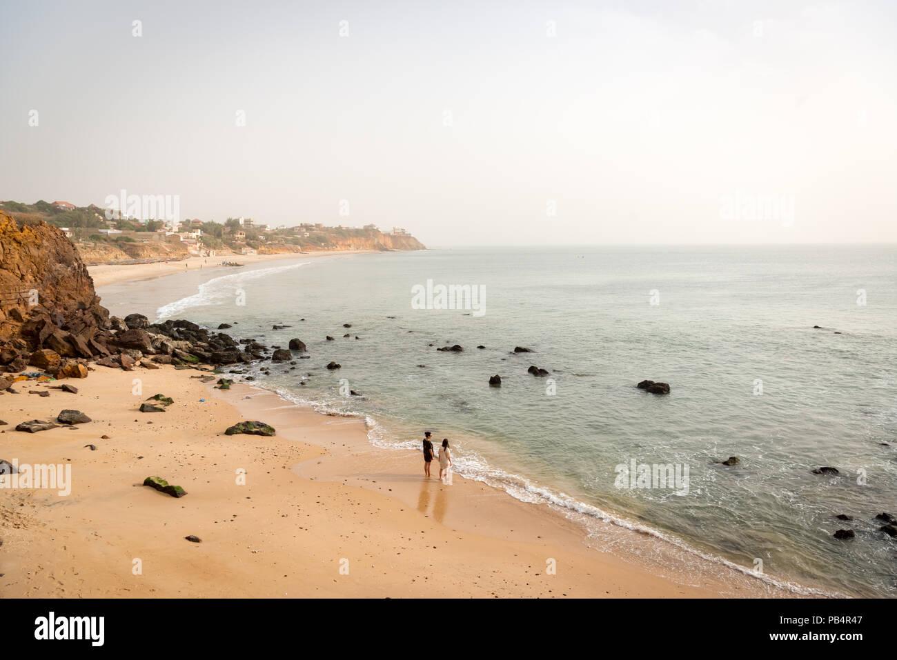 La plage de Toubab au Sénégal, Diaolao Photo Stock