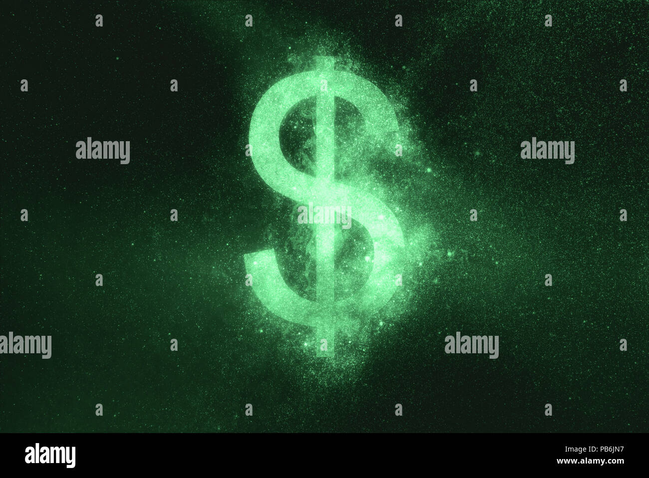 Le symbole du dollar, symbole du dollar. Symbole vert Photo Stock