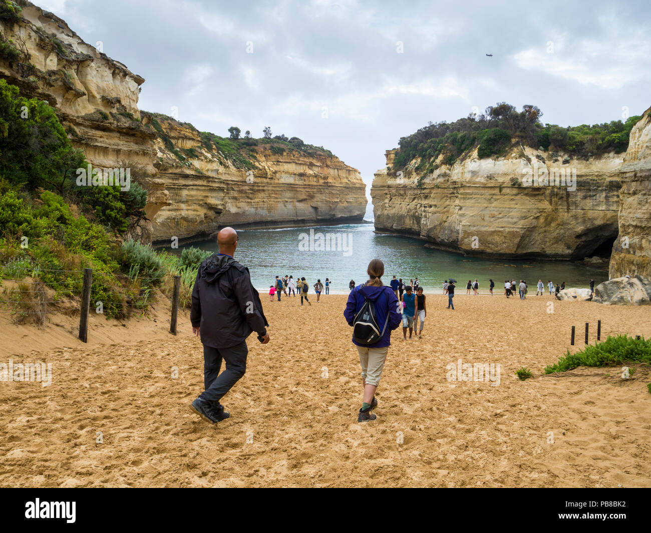 Plage de Loch Ard Gorge, Port Campbell National Park, Great Ocean Road, Victoria, Australie Photo Stock