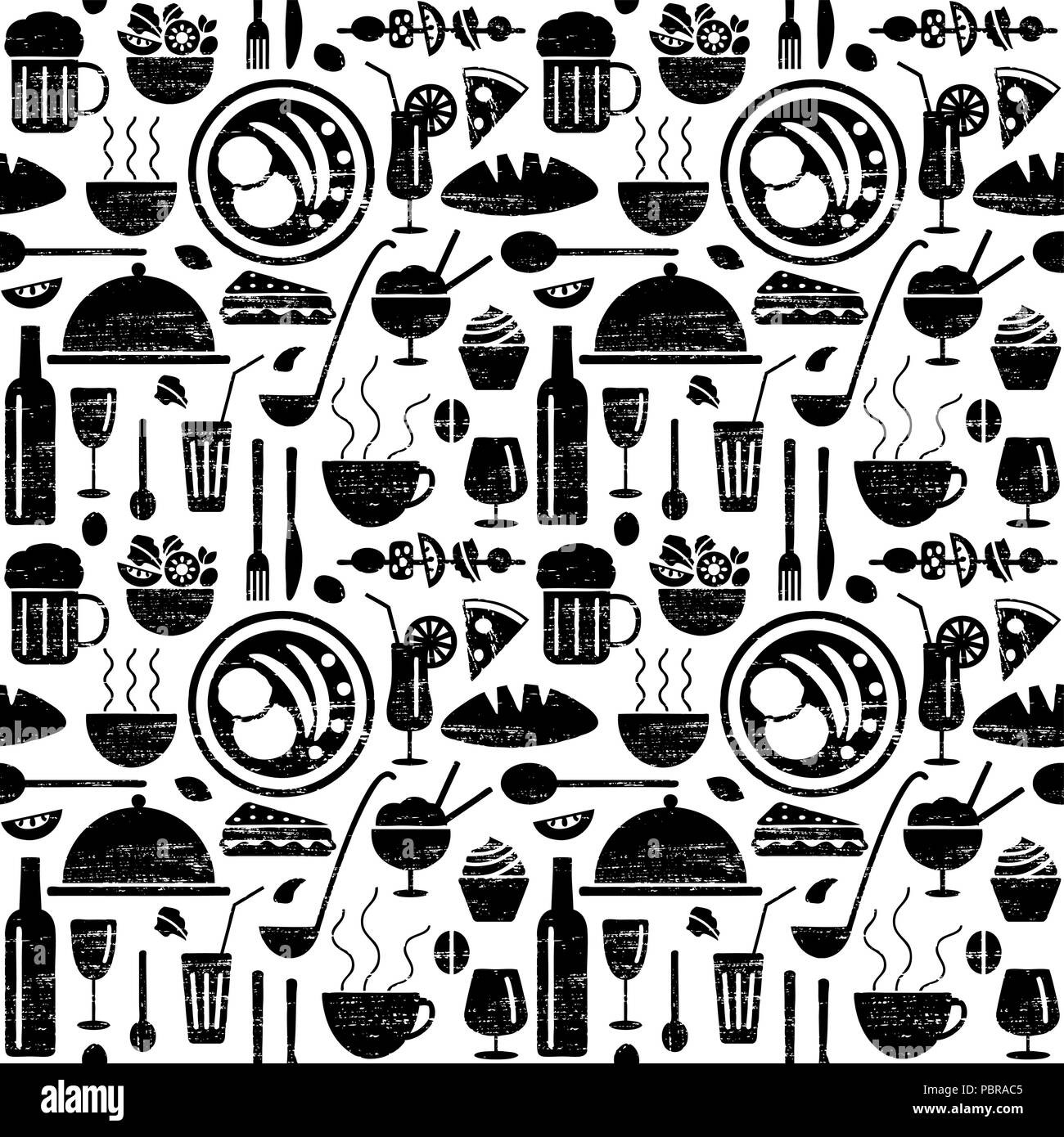 Menu restaurant rayé motif transparent connexes Illustration de Vecteur