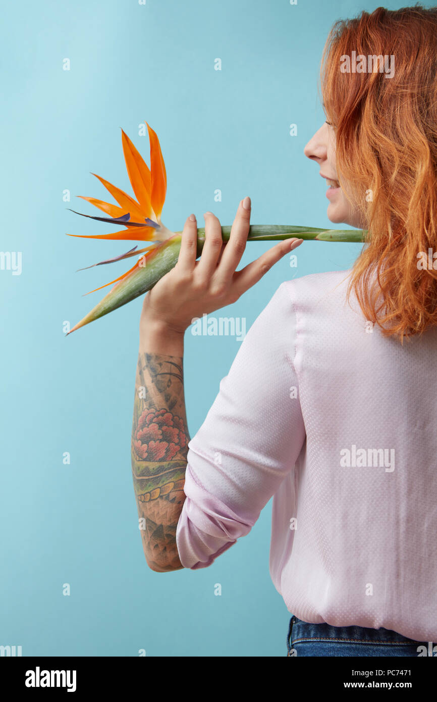 Oiseau De Paradis Femme Tattoo Banque D Images Photo Stock