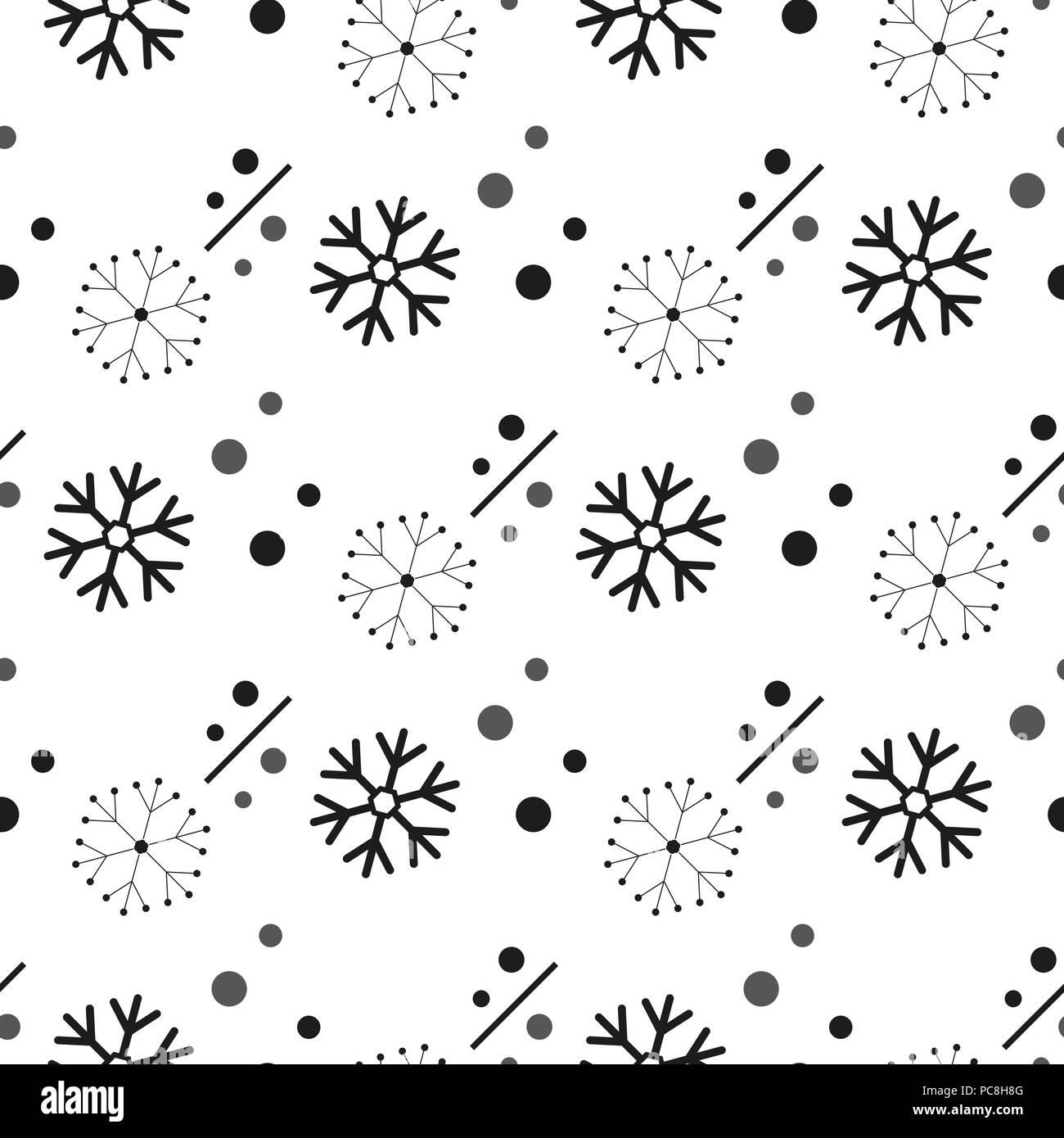 Simple Motif Flocon Transparent La Neige Noire Sur Fond