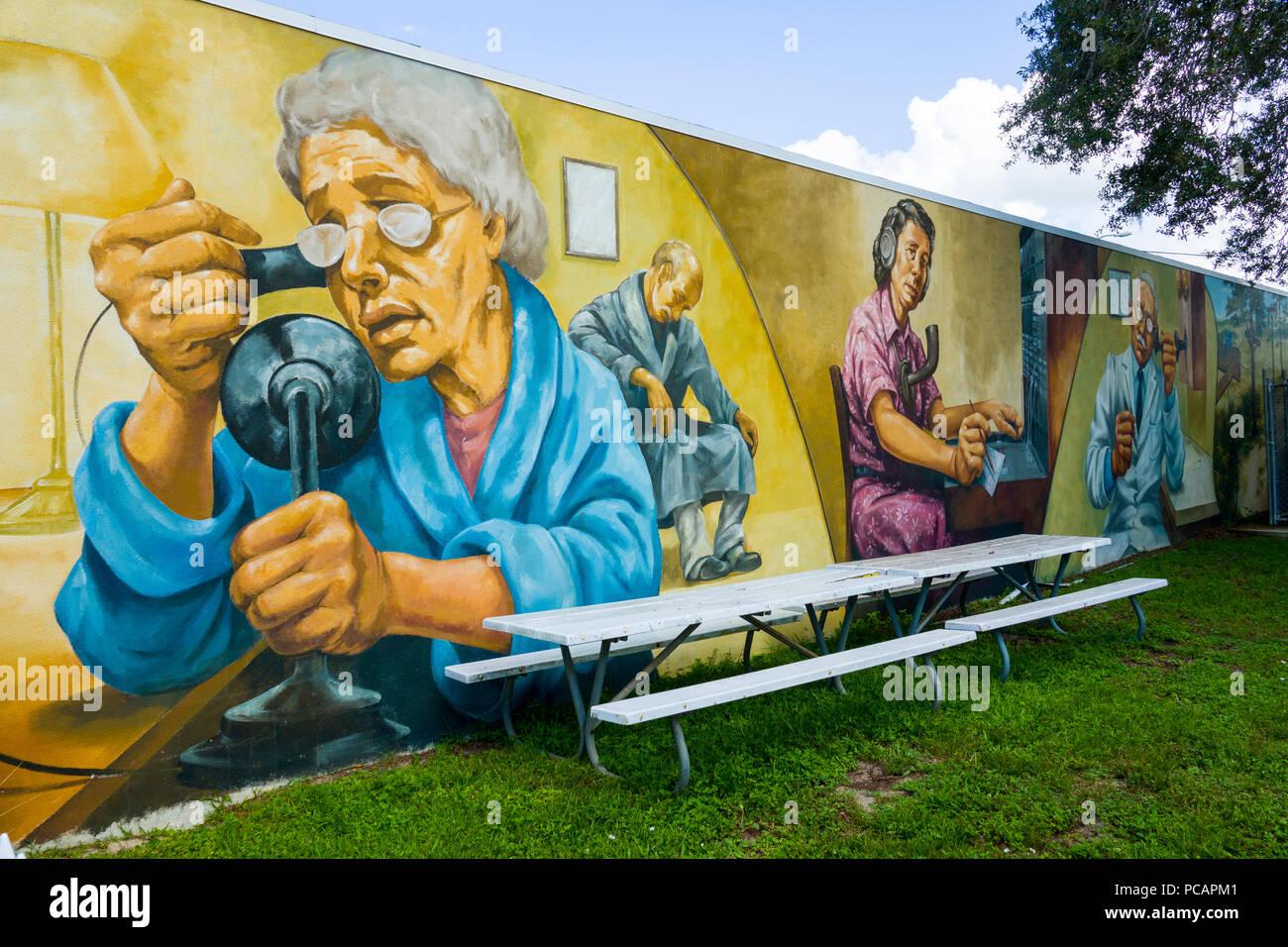 Peinture Murale Fresque à Lake Placid En Floride Une Ville A