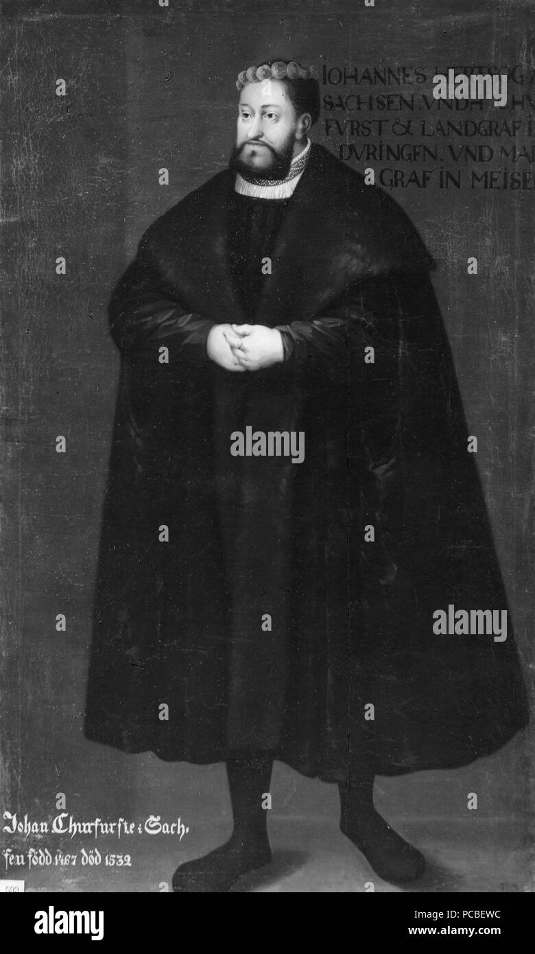 49 Johan den beständige, 1469-1532, kurfurste av Sachsen (David Frumerie) - Nationalmuseum - 15263 Banque D'Images