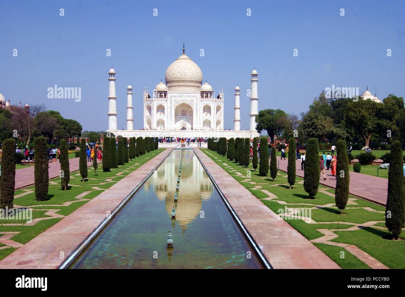 Mon voyage en Inde. Taj Mahal est l'une des plus grande et plus belle chose que j'ai vu dans ma vie! Taj Mhal est à couper le souffle. Photo Stock