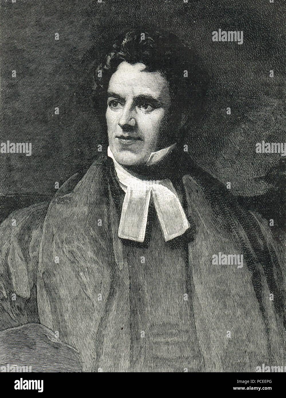 Thomas Arnold, éducateur et historien anglais, partisan de l'Église large mouvement anglican, et directeur de l'école de Rugby Photo Stock