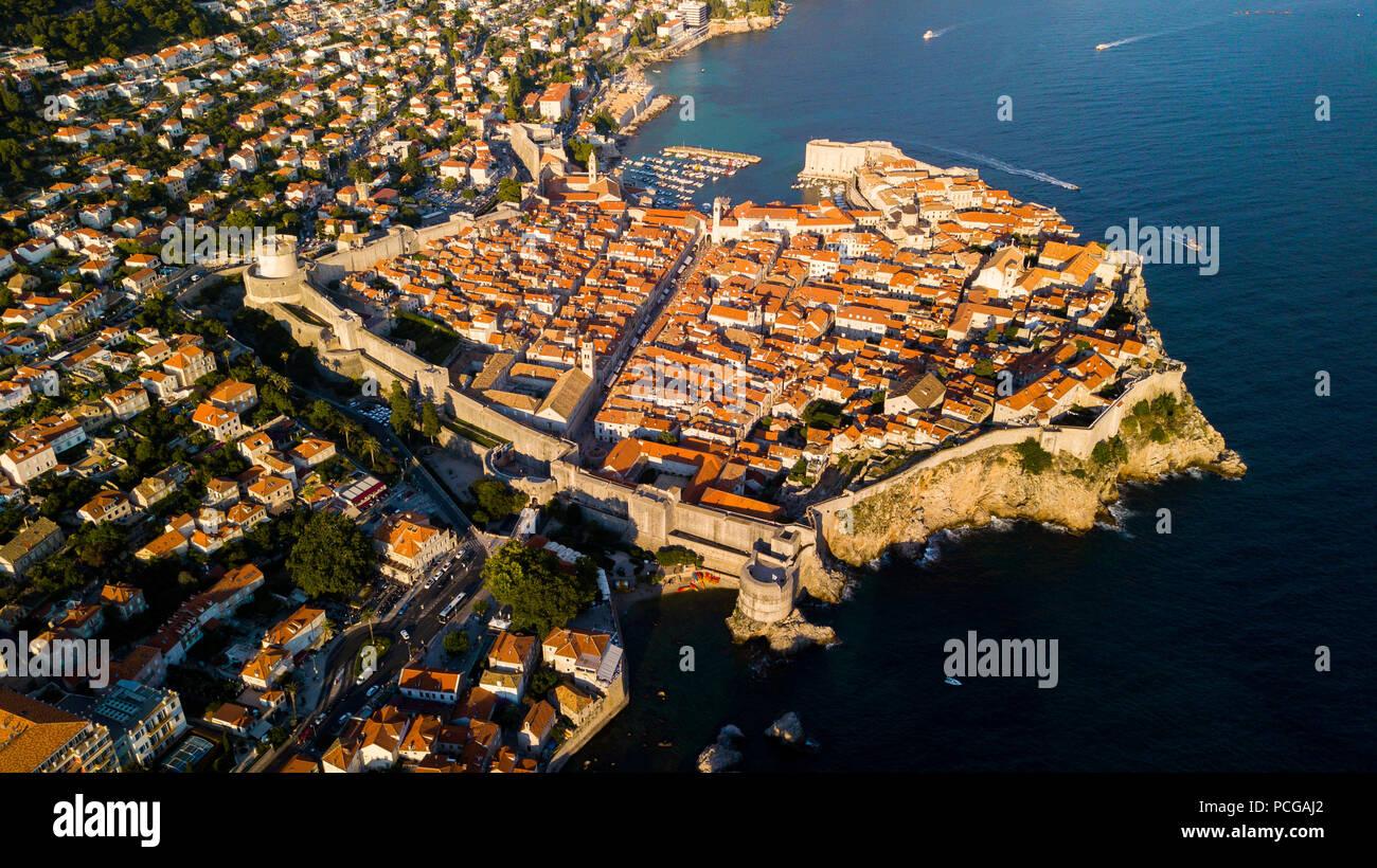 Vieille ville de Dubrovnik, Croatie Banque D'Images