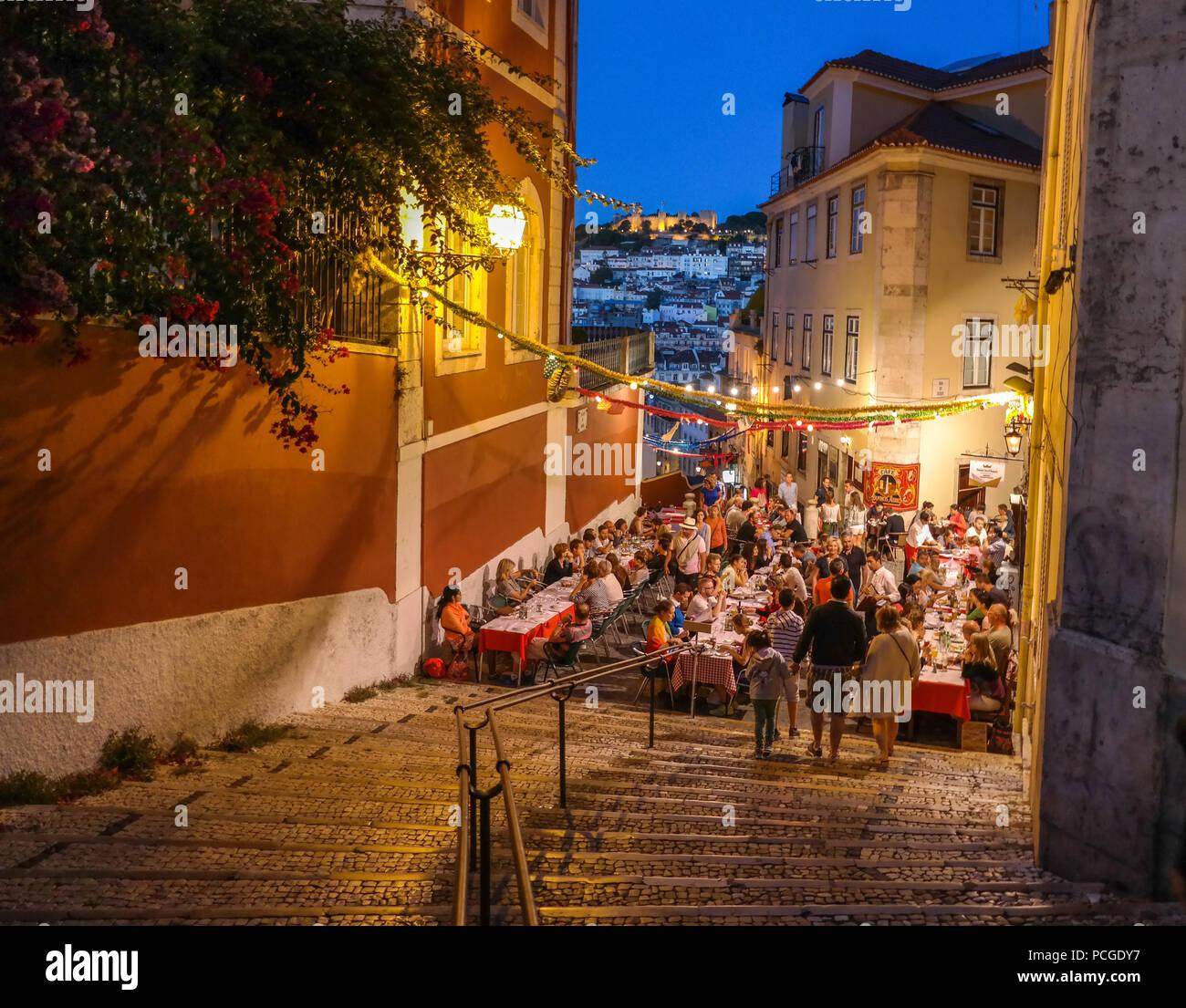 Lisbonne. Calcada do Duque Banque D'Images