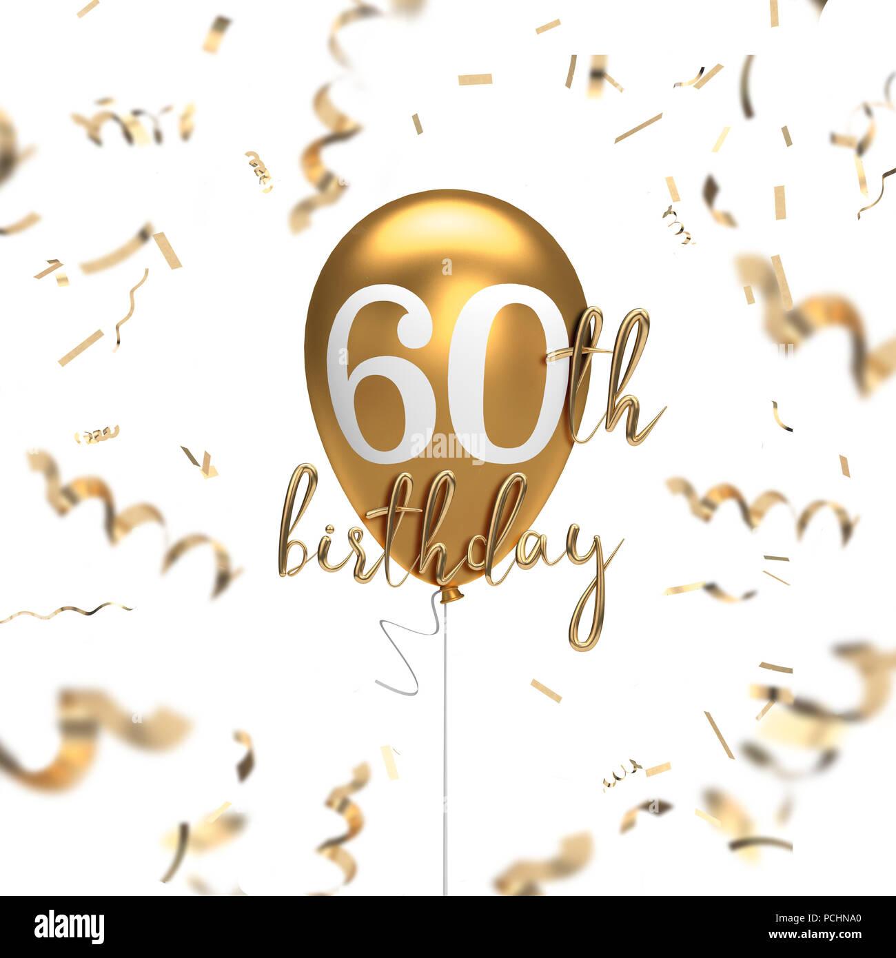 Heureux 60e Anniversaire Ballon D Or Message D Arriere Plan Le