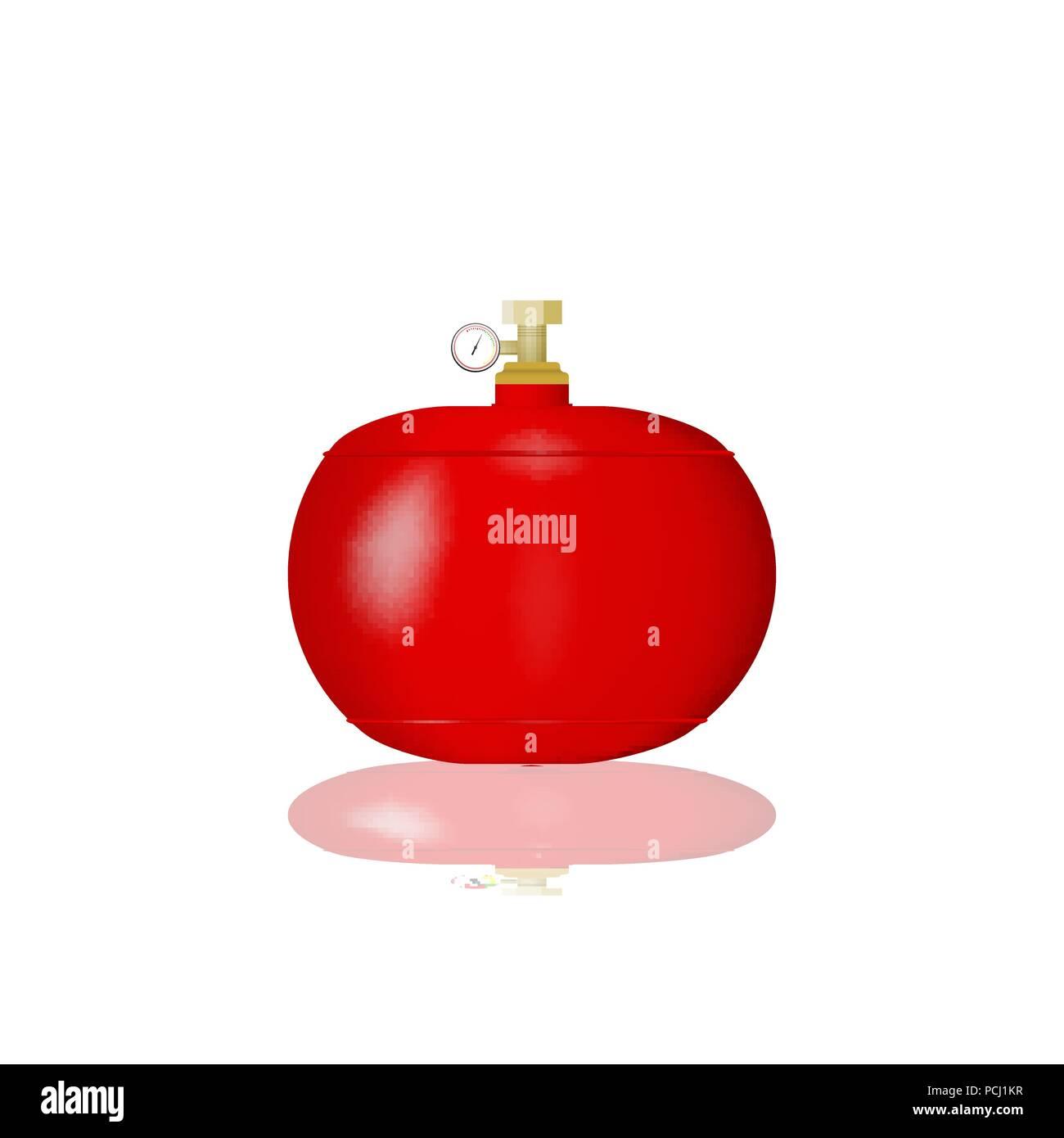 Cylindre Rouge Avec Gaz Liquéfié Vector Illustration D Une