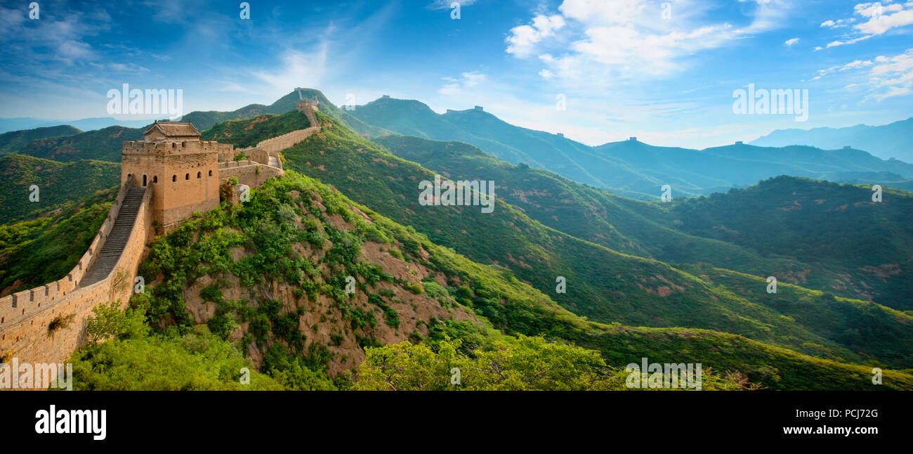 Great Wall,les merveilles du monde Photo Stock