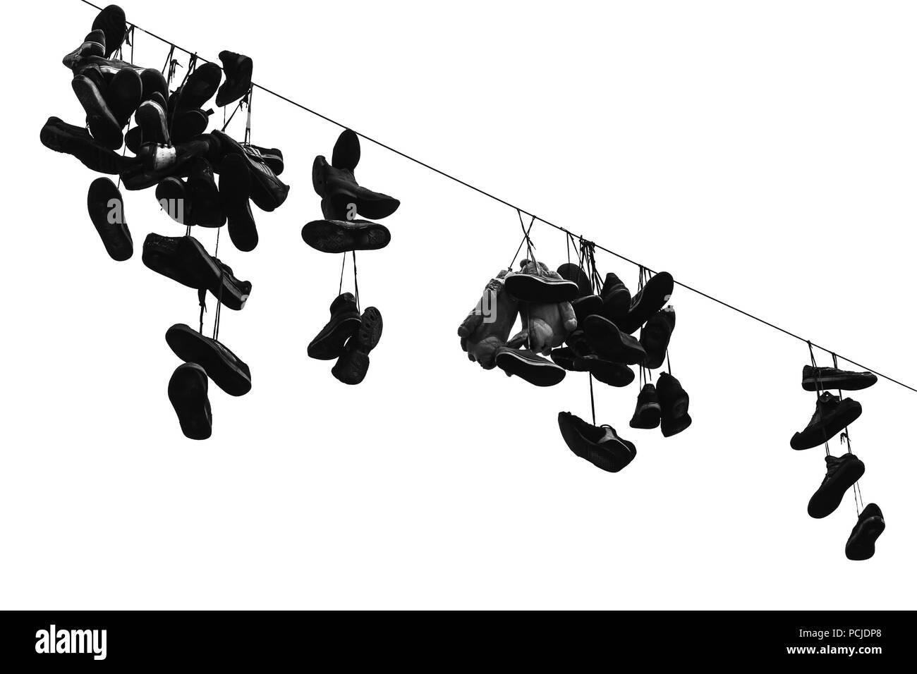 Sport Sur Et Le En De ÉlectriquePhoto Noir Fil Chaussures Accroché xEedoWBrQC