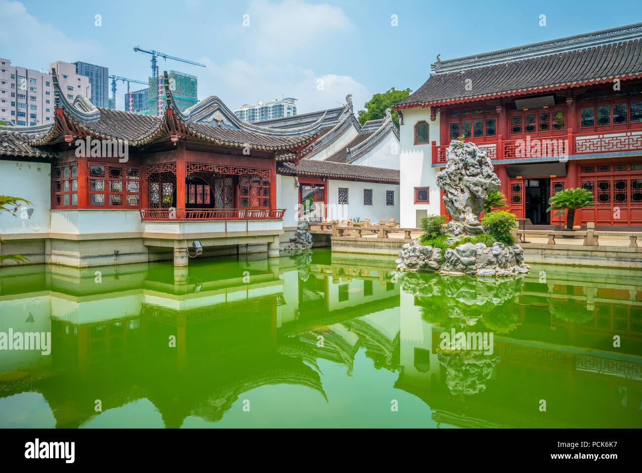 Wen Miao, Temple de Confucius, à Shanghai, Chine Photo Stock